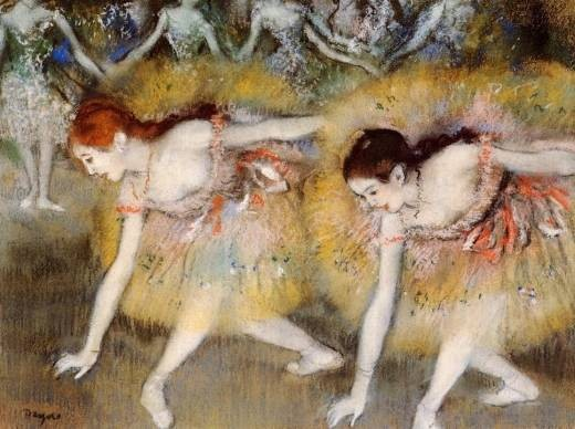 Another painting of ballet dancers by Degas in 1885 just because they're excellent paintings