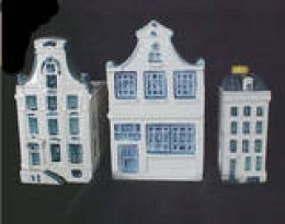 This an example of three miniature houses from Holland