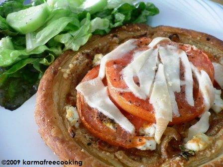 Tomato and Goat Cheese Tart (image from karmafreecooking.com)