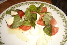 One version of a Mozzarella and Tomato salad