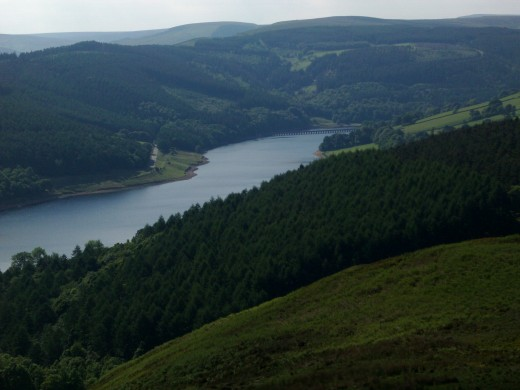 Ladybower Reservoir, looking north towards Derwent Reservoir
