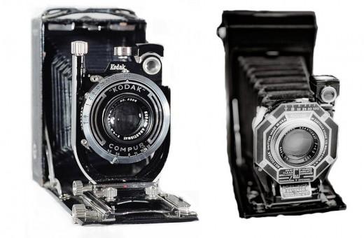 Kodak Recomar 18 camera and Kodak Six-20 Anastigmat camera