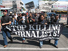 Journalists' murders denounced.  (UCANews photo)