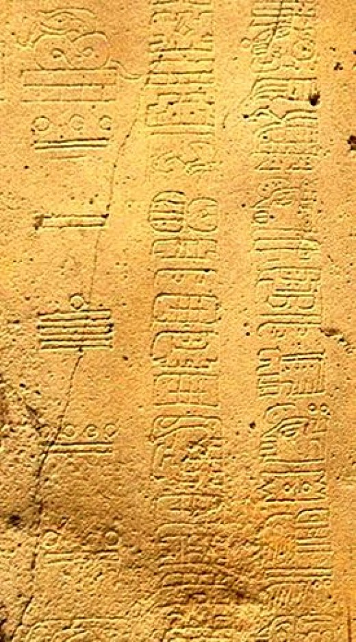 Mayan calendar showing basic number system