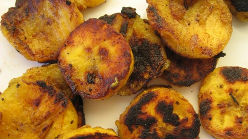 Closeup of fried plantain slices / Photo by E. A. Wright