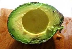 Avocado, halved / Photo by E. A. Wright