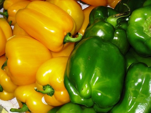 Fresh bell peppers are great to cut up and use with dips