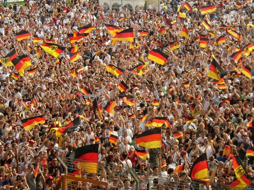 Enthusiastic German fans