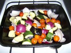 Roasting the Vegetables