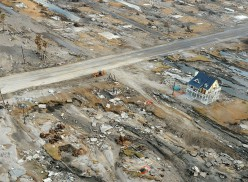 Gilchrist, Texas was largely destroyed by Hurricane Ike's storm surge.