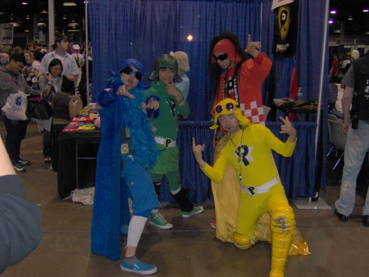 Peelander Green, Blue, Yellow, and RED!