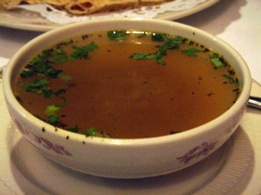 Mulligatawny soup clear