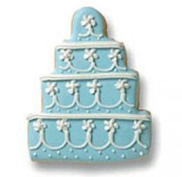 Blue Wedding Cake Cookie Favor