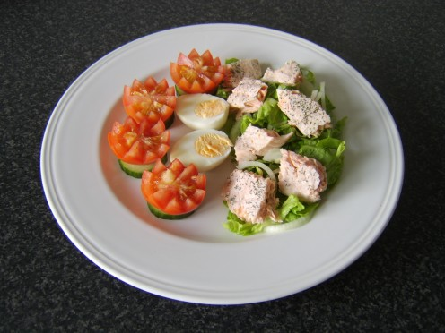 Poached Salmon Summer Salad