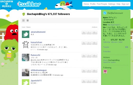 675,337 followers for GachapinBlog