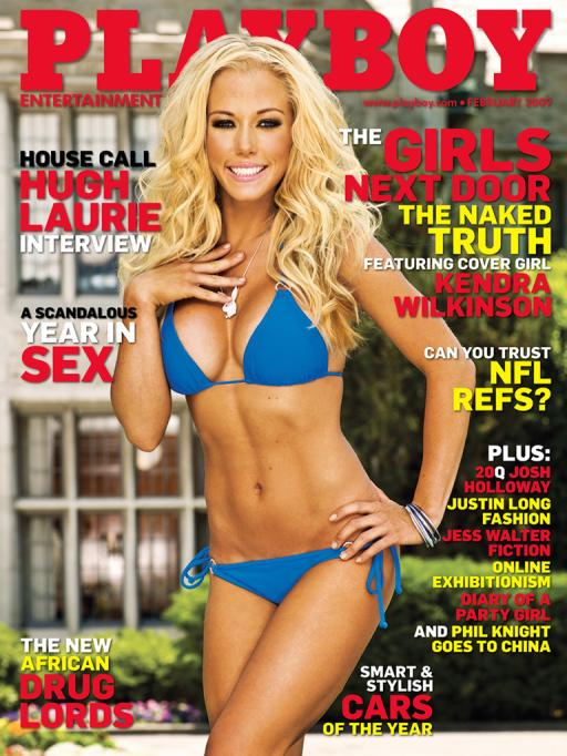 Kendra graces the cover of Playboy