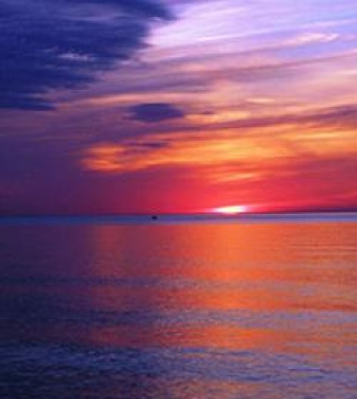 Sunset over Lake Michigan,         by Kevin Dooley