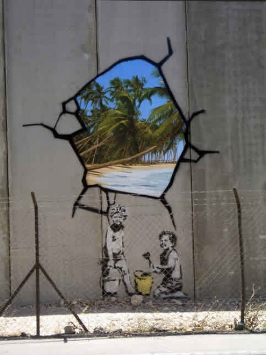 Another Banksy on the Palestine wall
