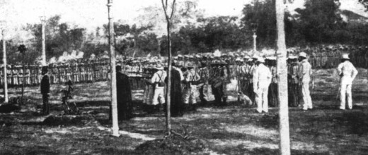 THE EXECUTION OF JOSE RIZAL (Photo courtesy of http://www.executedtoday.com/)