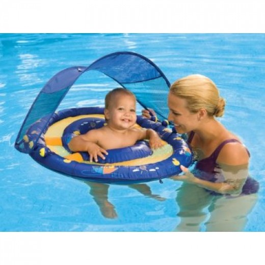 baby spring float sun canopy by swimways