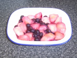 Stewed Apples and Blueberries