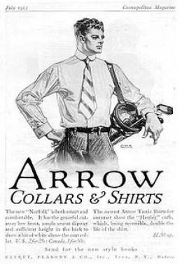 A Necktie from a 1913 Arrow Collar Ad
