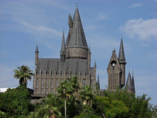 Hogwarts castle at the Harry Potter land theme park