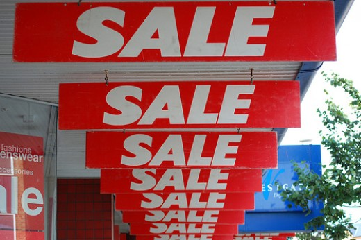 It's a sale! / Source: http://www.flickr.com/photos/timparkinson/930660427/