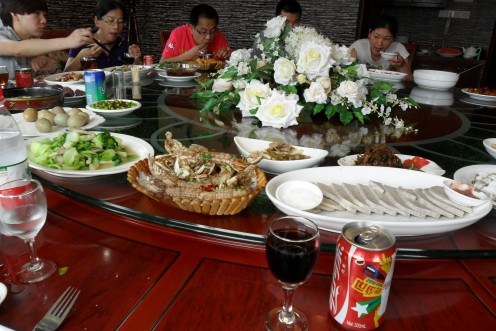 The food on the revolving table