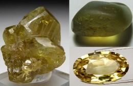 Chrysoberyl crystal and gemstone