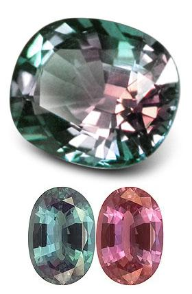 Color changing in alexandrite