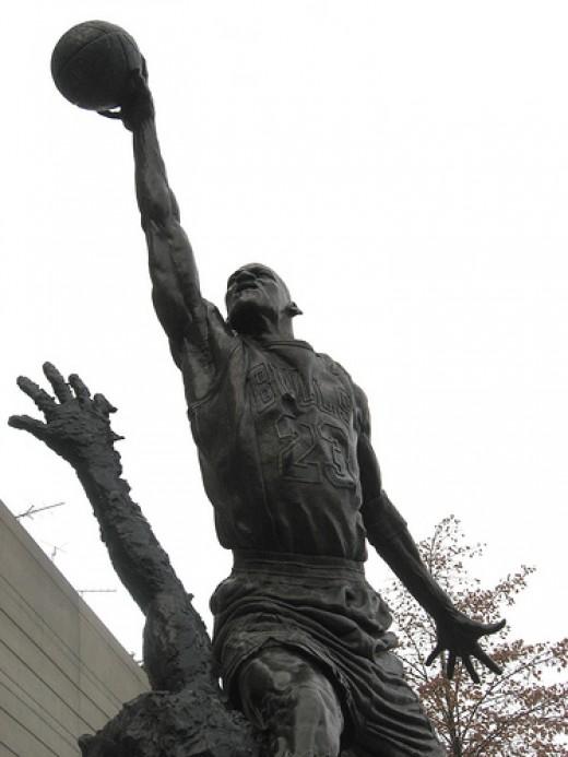 Michael Jordan statue -- from http://farm4.static.flickr.com/3180/3041734737_6a2419bd3c.jpg