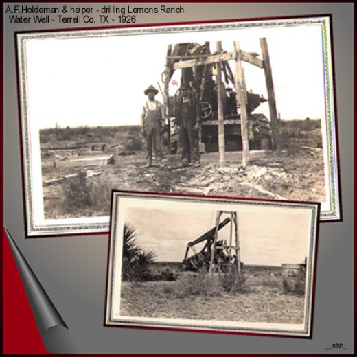 He got its start drilling water wells. - This one, 1926, on the ranch next to mne.