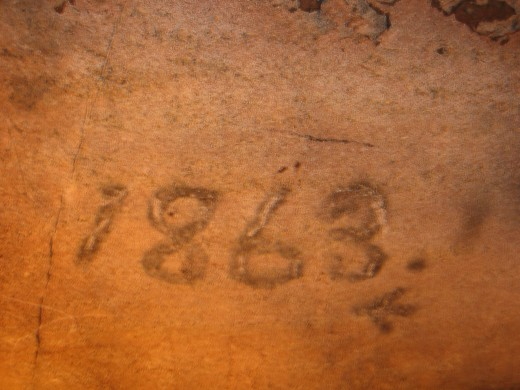 This is the earliest known, authentic date found in the cave.  It is believed that Civil War soldiers used the cave in the 1800's and were responsible for making this marking.  There are several soldier names written on the walls of the cave.