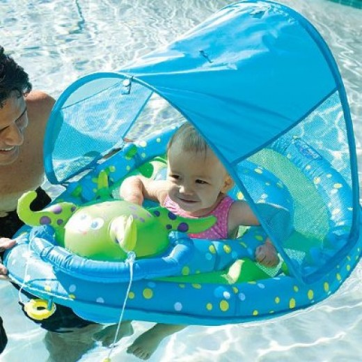 baby spring float sun canopy by swimways courtesy of Amazon
