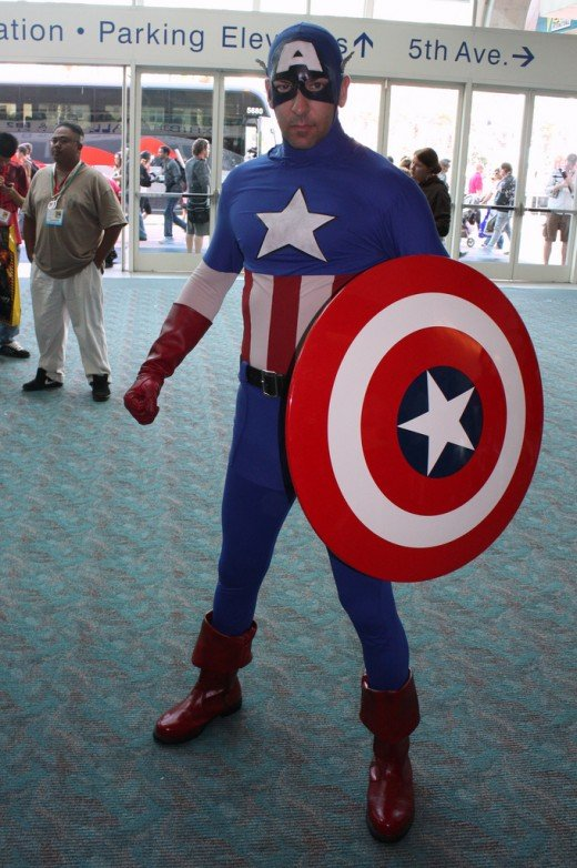Cosplayer in Captain America costume.  Source: Flickr, ewen and donabel