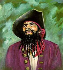 Black Beard was a infamous but short lived Pirate. It is said that his ghost still haunts the outer banks of North Carolina.