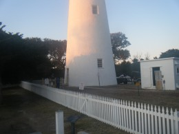 It is near the Ocracoke Lighthouse where Blackbeard's body is said to have been buried.