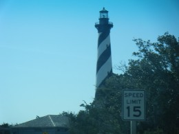 The present day lighthouse on Hatteras Island today.