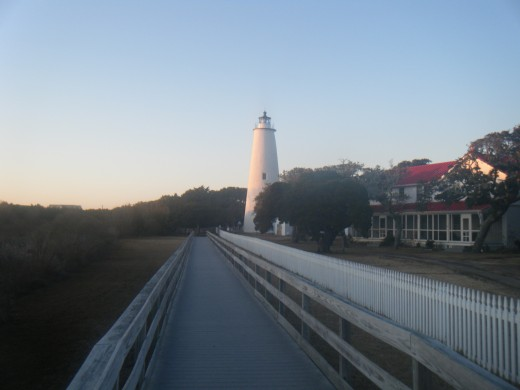 It is near the Ocracoke Lighthouse that the headless ghost of Blackbeard is said to wander hunting his head.