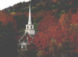 A Church In The Woods Near Londonderry New Hampshire.