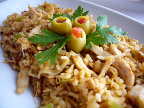 """Chicken & Bulgur Pilaf Leftovers""  (Photo by Loren Akten)"