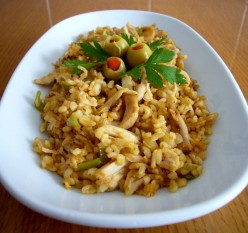 What To Do With Leftovers - Cold Chicken and Bulgur Pilaf Recipe