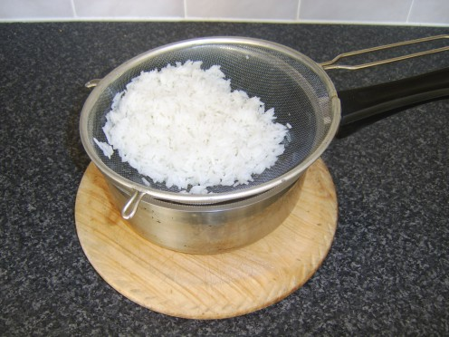 Boiled Rice Left to Cool