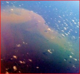 Oil as seen from 30,000 feet.