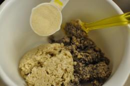 Add flour.  Personal photo.