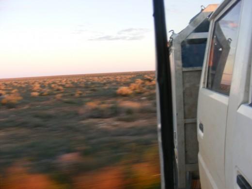 Crossing the famed Nullabor Plain, still in South Australia