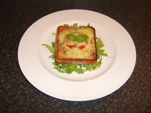 Vegetarian Hawaiian Toast