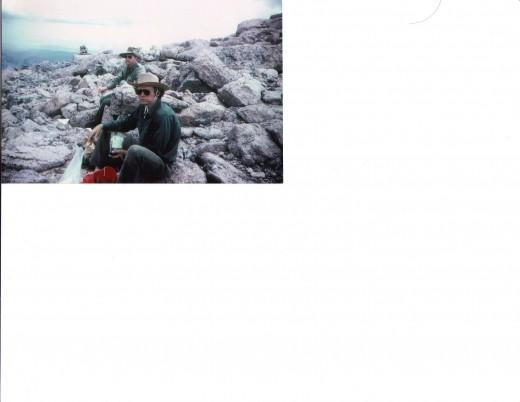Climbers atop Longs Peak