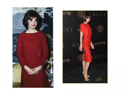 Jackie and Katie - Similar Elegance in Red